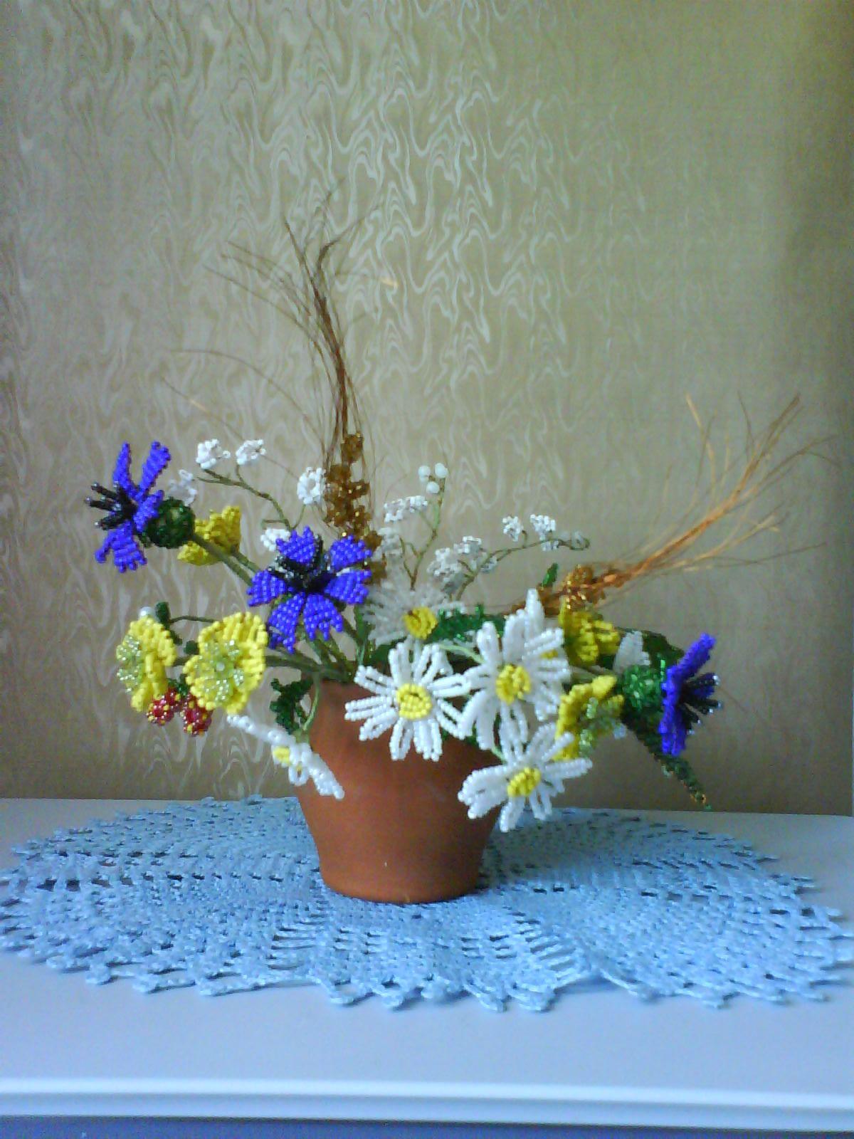 Полевые цветы: букет своими руками. Мастер-класс с фото - 7я.ру 28